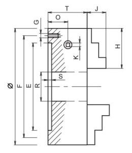 4 ayaklı torna aynası teknik ölçüler